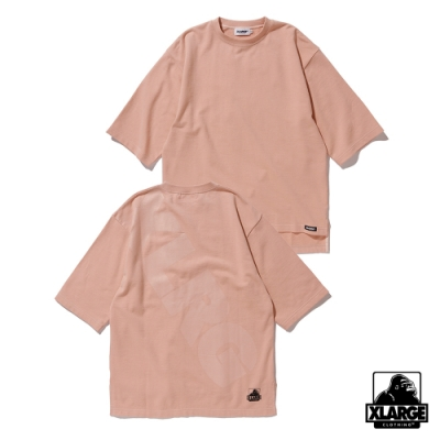 XLARGE S/S SWEAT落肩款短袖T恤-粉色