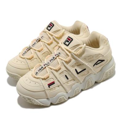 Fila 休閒鞋 Barricade XT 97 運動 女鞋 韓版 厚底 舒適 老爹鞋 簡約 穿搭 米白 黃 4B507U117