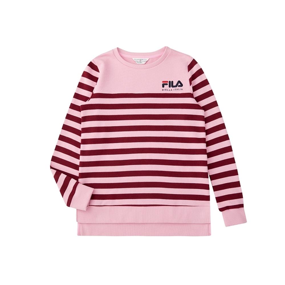 FILA 女長袖圓領T恤-粉色 5TEU-5474-PK