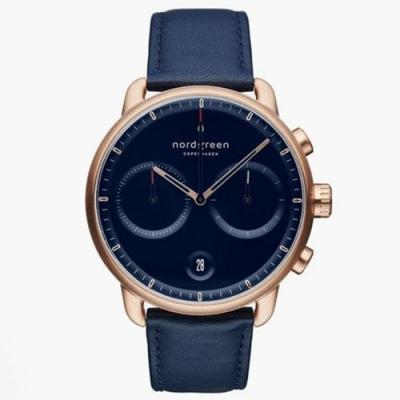 Nordgreen Pioneer | 北歐藍錶盤 - 北歐藍真皮錶帶42MM(PI42RGLENANA)