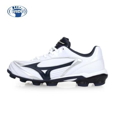 MIZUNO SELECT 9 男棒壘球鞋-WIDE-寬楦  棒球 壘球 白丈青