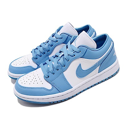 Nike 休閒鞋 Air Jordan 1 Low 北卡藍 女鞋 經典款 簡約 喬丹一代 穿搭 皮革 藍 白 AO9944441