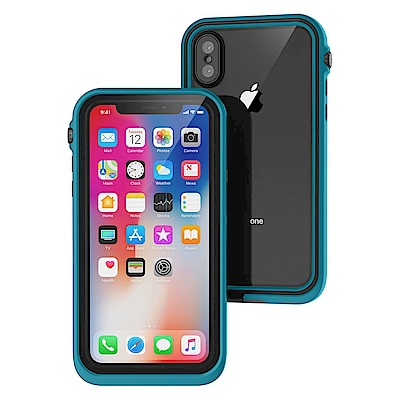 CATALYST for iPhone X 完美四合一防水保護殼-限定藍