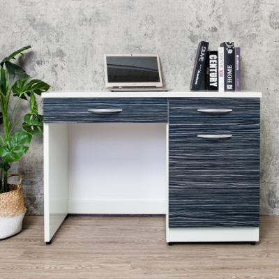 Birdie南亞塑鋼-3.5尺塑鋼化妝桌/梳妝台/書桌/工作桌-鐵刀木-106x48x76