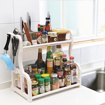 【Cap】多功能廚房雙層收納置物架