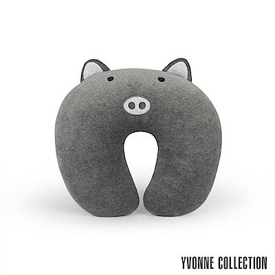 Yvonne Collection 豬豬兒童頸部抱枕- 暗灰