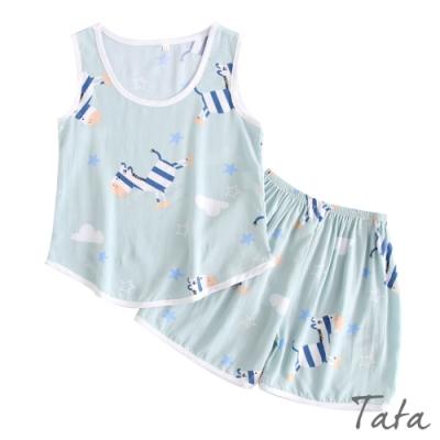兒童 木馬印花居家服套裝 TATA KIDS