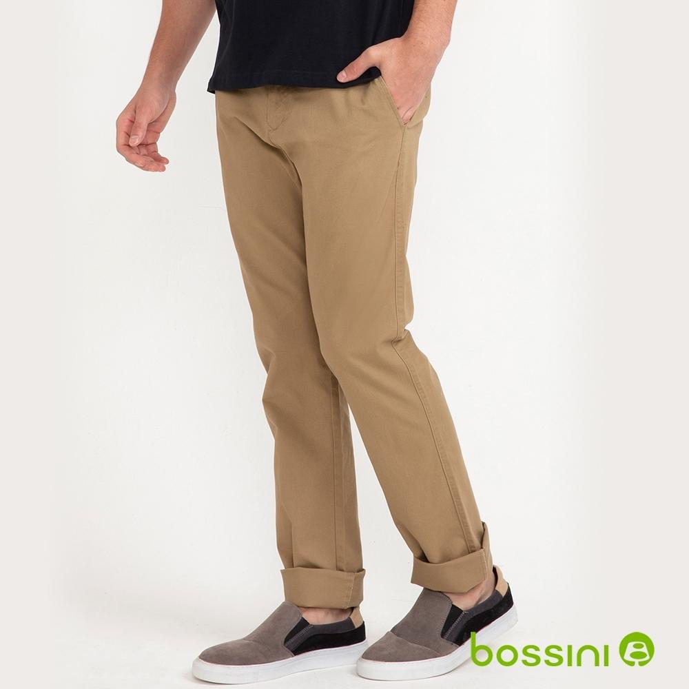 bossini男裝-彈性長褲01卡其
