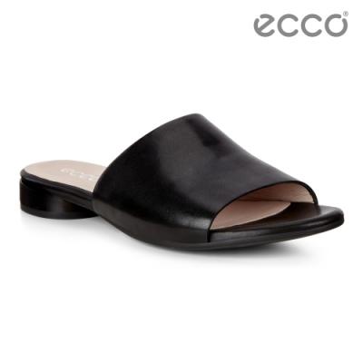 ECCO W FLAT SANDAL II 現代時裝露趾涼拖鞋 女鞋-黑