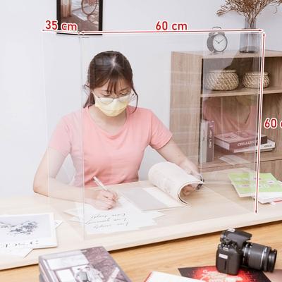 [品牌週買一送一] 樂嫚妮 ㄇ字防疫隔板/餐廳/銀行/辦公-可折疊收納/全透明-寬60高60厚0.15cm