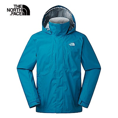 The North Face北面男款藍色防水透氣衝鋒衣 3SPI8EE