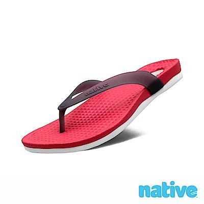native PAOLO 男/女拖鞋-艷紅x霧灰