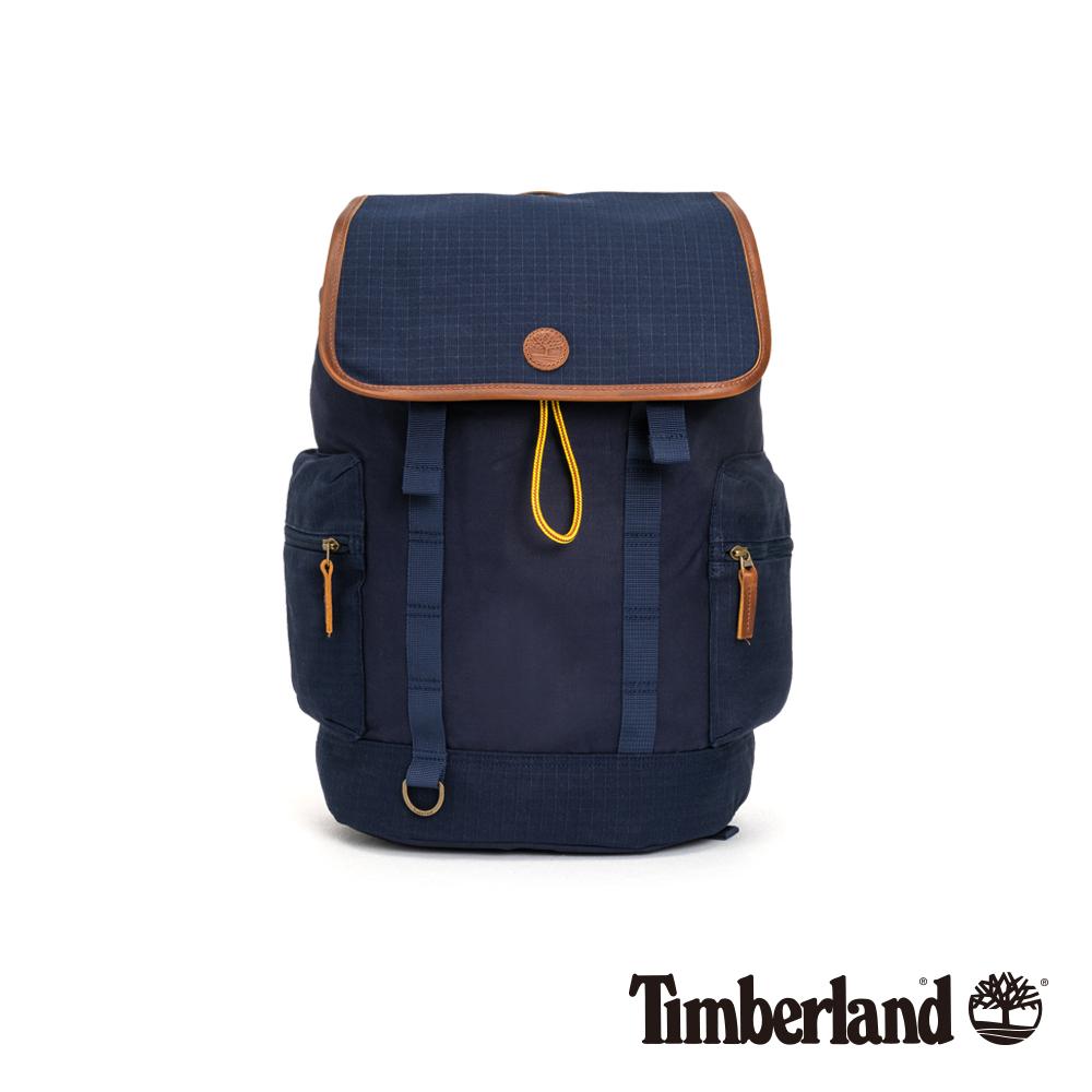 Timberland 中性深藍色束口插扣後背包|A1CUE