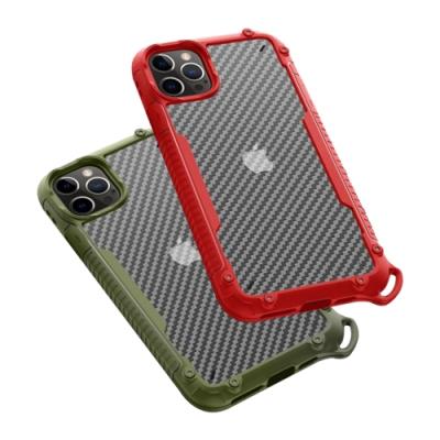 iPhone 12 Pro 磨砂 氣囊 防撞 手機 保護殼 四邊 防摔 軟邊 手機殼 红色款 附掛繩 (iPhone12Pro手機殼 iPhone 12 Pro保護殼 )