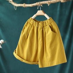 高腰顯瘦純棉短褲寬鬆百搭五分褲子六色-設計所在
