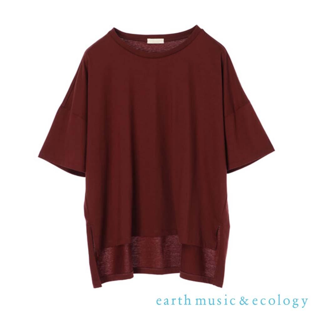 earth music  吸水速乾寬鬆純棉短袖T恤