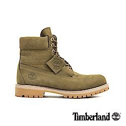 Timberland 男款橄欖色磨砂革經典6吋靴 A1YQ1