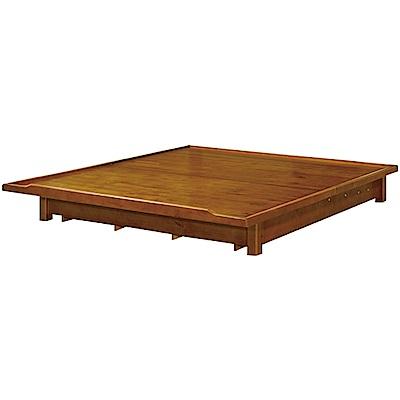 綠活居 派米亞時尚6尺實木雙人加大後掀床底-183x193x27.5cm免組