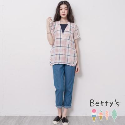 betty's貝蒂思 腰鬆緊輕薄牛仔褲(藍色)