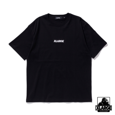 XLARGE S/S TEE EMBROIDERY STANDARD LOGO 刺繡LOGO短T-黑