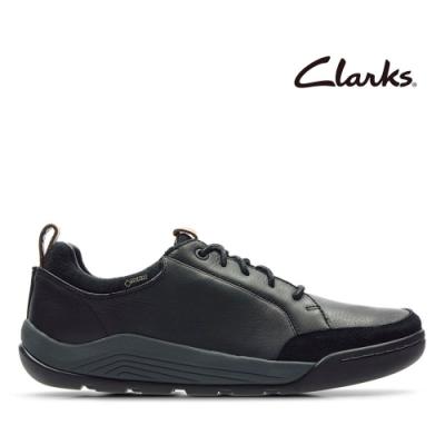 Clarks 樂活休閒-輕戶外防潑水真皮休閒靴 黑色
