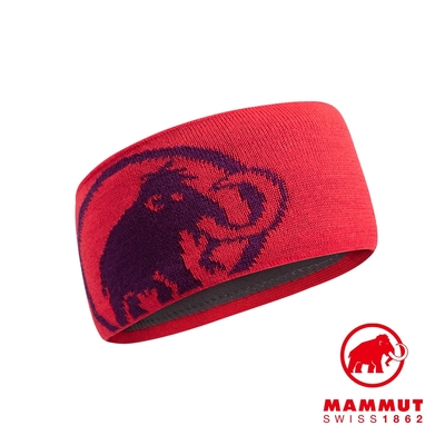 【Mammut】Tweak Headband 保暖針織LOGO頭帶 日落紅/葡萄紫 #1191-03451