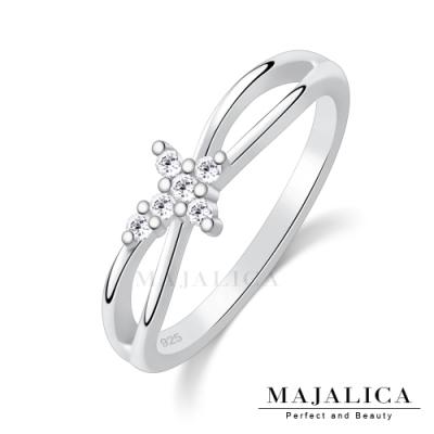 Majalica交叉十字女戒尾戒925純銀戒指推薦品牌 單個價格