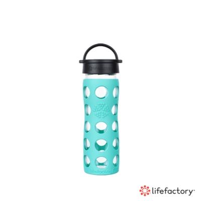 lifefactory 玻璃水瓶平口475ml-綠色(CLA-475-MNB)