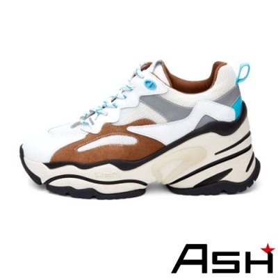 ASH-BLAST時尚潮流休閒運動鞋坡跟增高老爹鞋-灰
