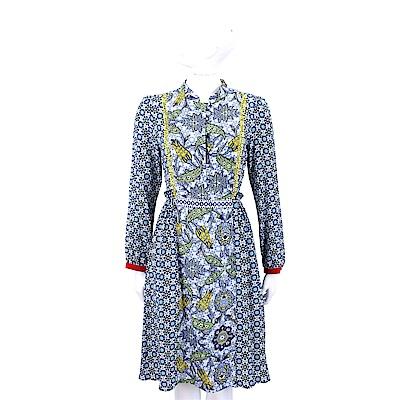 Max Mara-WEEKEND 藍色碎花雪紡洋裝