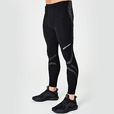 BodyVine巴迪蔓 男款運動壓縮長褲/壓力褲(膝蓋與小腿穩固)