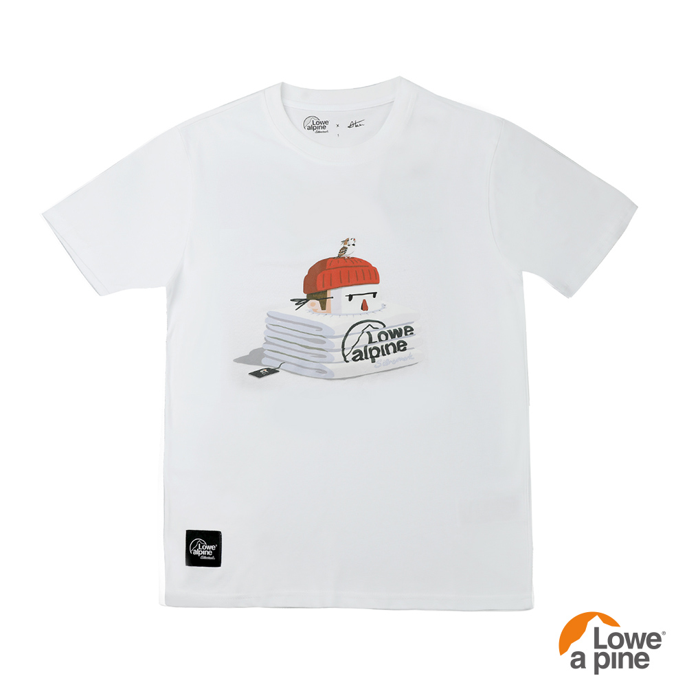 Lowe alpine Silvermark 男款Abei聯名插畫T恤-02 白色