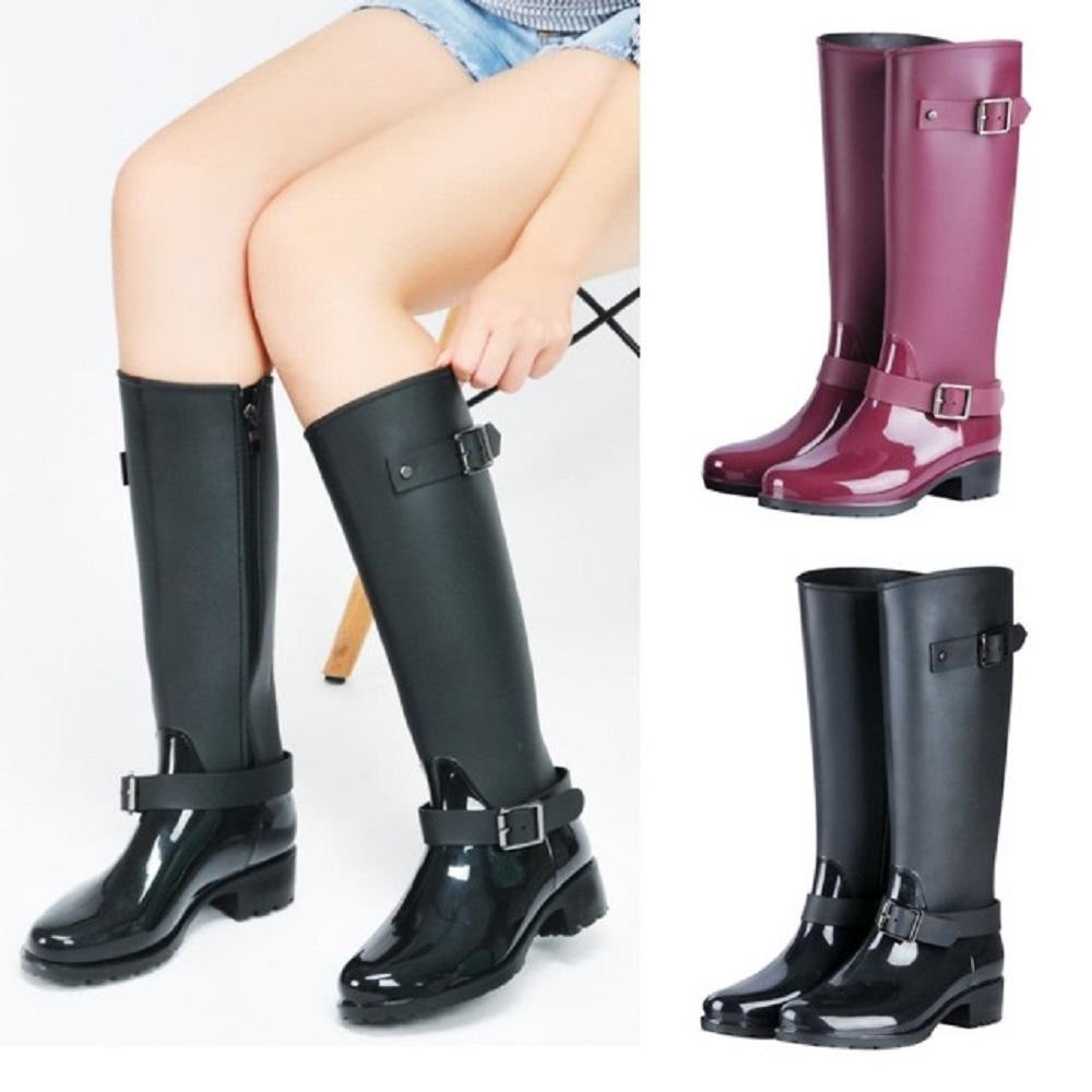 LN 經典環扣側拉鍊長雨靴-2色