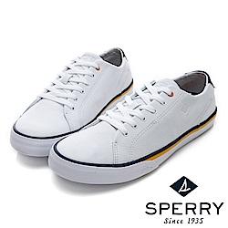 SPERRY 海軍風輕量牛皮休閒鞋(男)-白