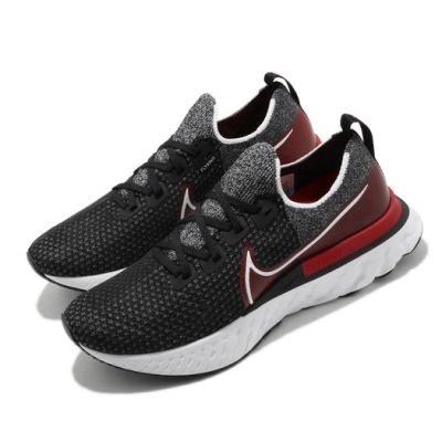 Nike 慢跑鞋 React Infinity Run 男鞋 襪套 輕量 透氣 舒適 避震 路跑 健身 黑 紅 CD4371014