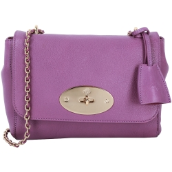 MULBERRY Lily 山羊皮經典鍊帶肩背包(紫色)