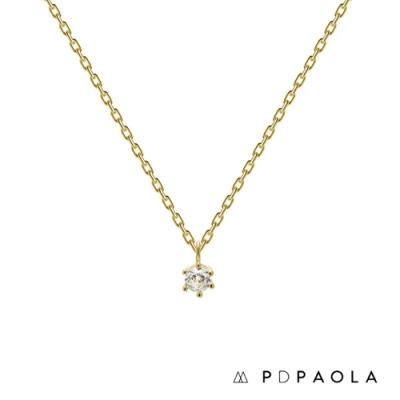 PD PAOLA 西班牙輕奢時尚品牌 Nora Gold 經典奢華鍍18K金鋯石項鍊