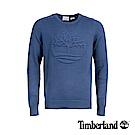 Timberland 男款深牛仔藍圓領大樹LOGO毛衣|A1XPY