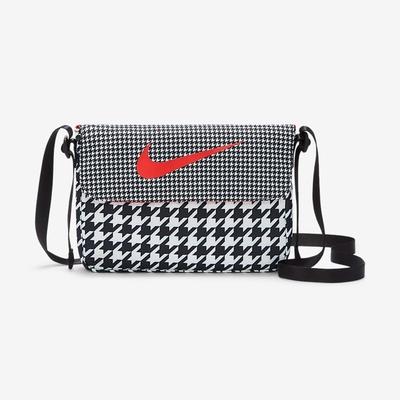 Nike Sportswear Futura 365 千鳥格 側背包-黑-DJ8067010
