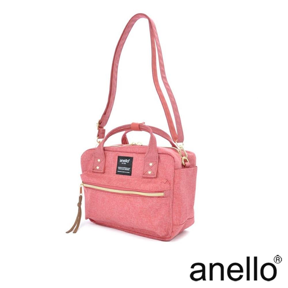 anello 獨特混色花紋手提斜背兩用包  粉紅色
