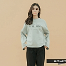 H:CONNECT 韓國品牌 女裝 - 簡約休閒落肩上衣 - 藍綠色