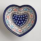 波蘭陶手工製 典雅花團 愛心造型烤盤