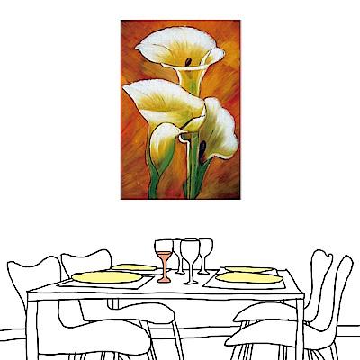橙品油畫布 單聯 時尚無框畫掛畫-海芋花卉 40x60cm