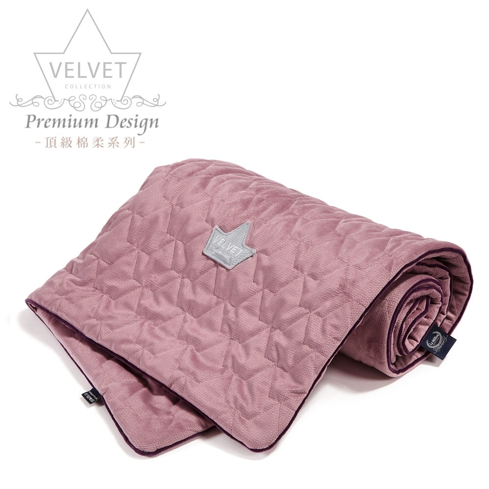 La Millou Velvet頂級棉柔系列-標準款暖膚毯80x100cm(舒柔灰紅)