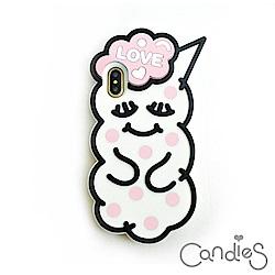 Candies 睡眠寶寶(Love粉紅-圓點)-IPhone X/Xs 5.8吋適用