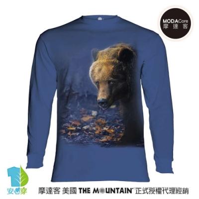 摩達客 美國進口The Mountain 熊覓食 純棉長袖T恤