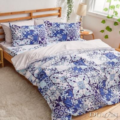 DUYAN竹漾-比利時設計-雙人加大床包枕套三件組-奧維的教堂 台灣製