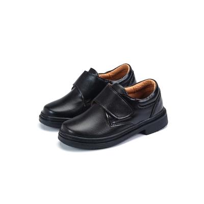 ARRIBA艾樂跑童鞋-魔鬼氈學生皮鞋-黑(TD6309)