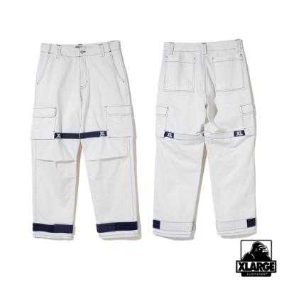 XLARGE ADJUSTABLE CARGO PANTS 工作長褲-白