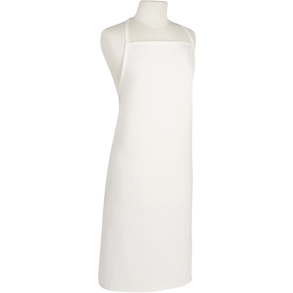《NOW》純色平口圍裙(白)